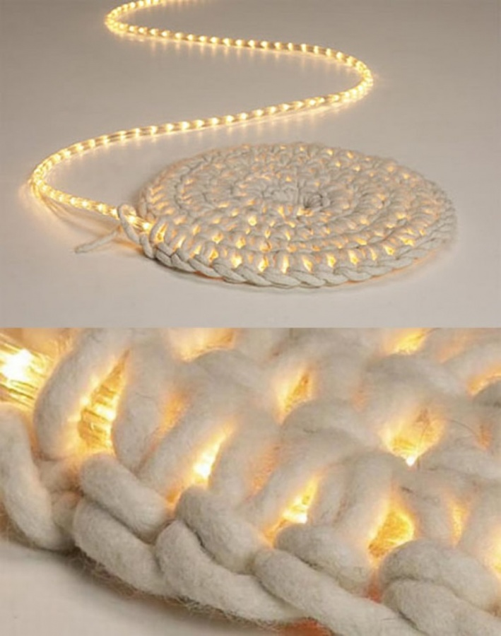 LED-carpet-light Exotic and Creative Carpet Designs for Your Unique Home