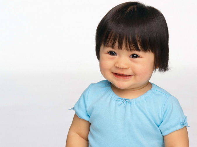Lovely-Smile-Baby-With-Nice-Hairstyle-High-Quality-Wallpapers Babies' Charming Hairstyles