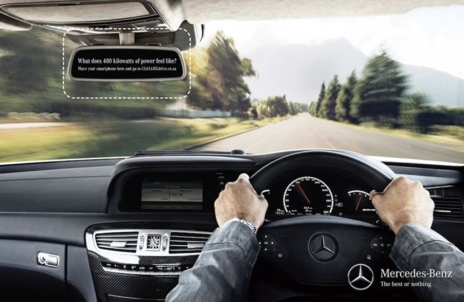 MERCEDES_TEST-DRIVE2 Top 10 Most Interactive Car Print Ads
