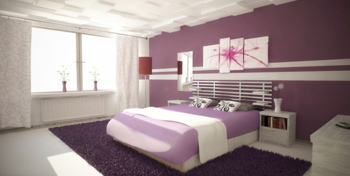 Magnificent Purple Bedroom Daytime