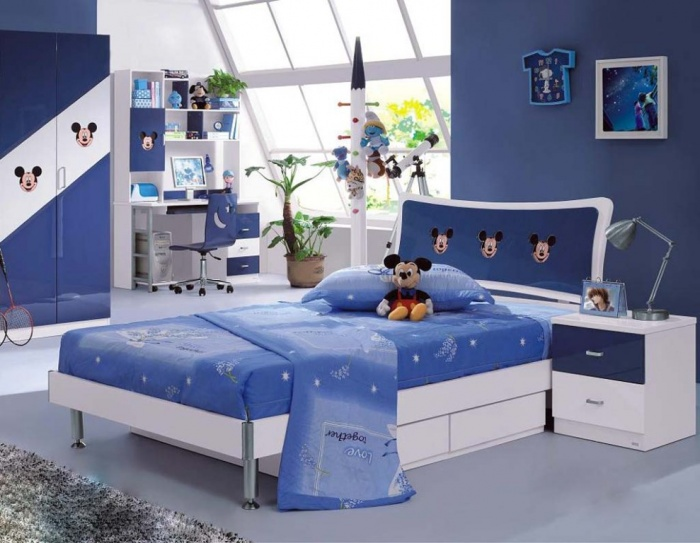 Mickey-Mouse-style-kids-bedroom-interior-design Fascinating and Stunning Designs for Children's Bedroom