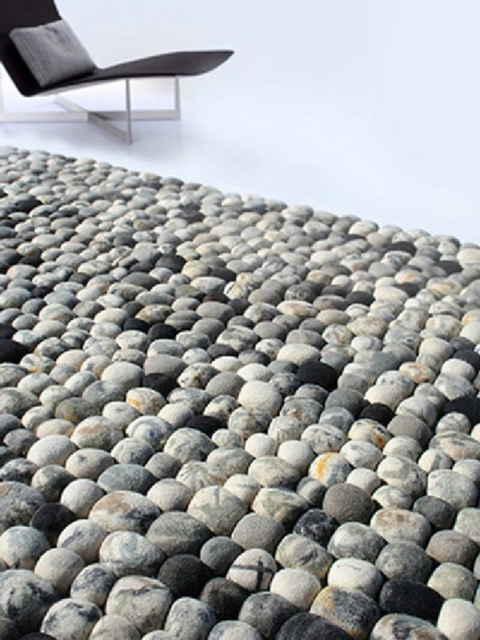 Modern-Faux-Pebble-Rug-Made-of-Wool-Design-for-Living-Room Exotic and Creative Carpet Designs for Your Unique Home