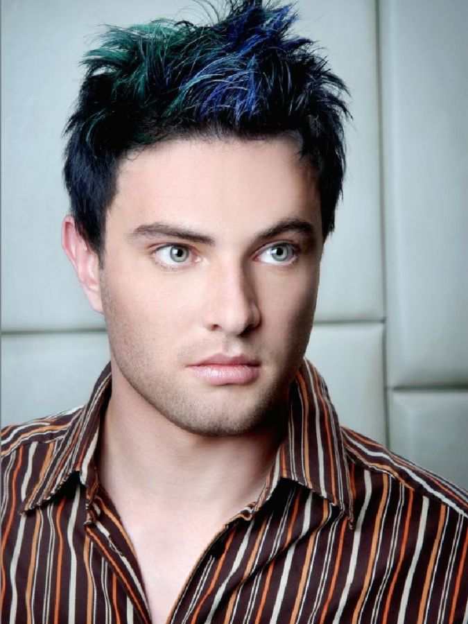Modern-Men-Hairstyle-with-blue-fringe-966 Hairstyles For Men