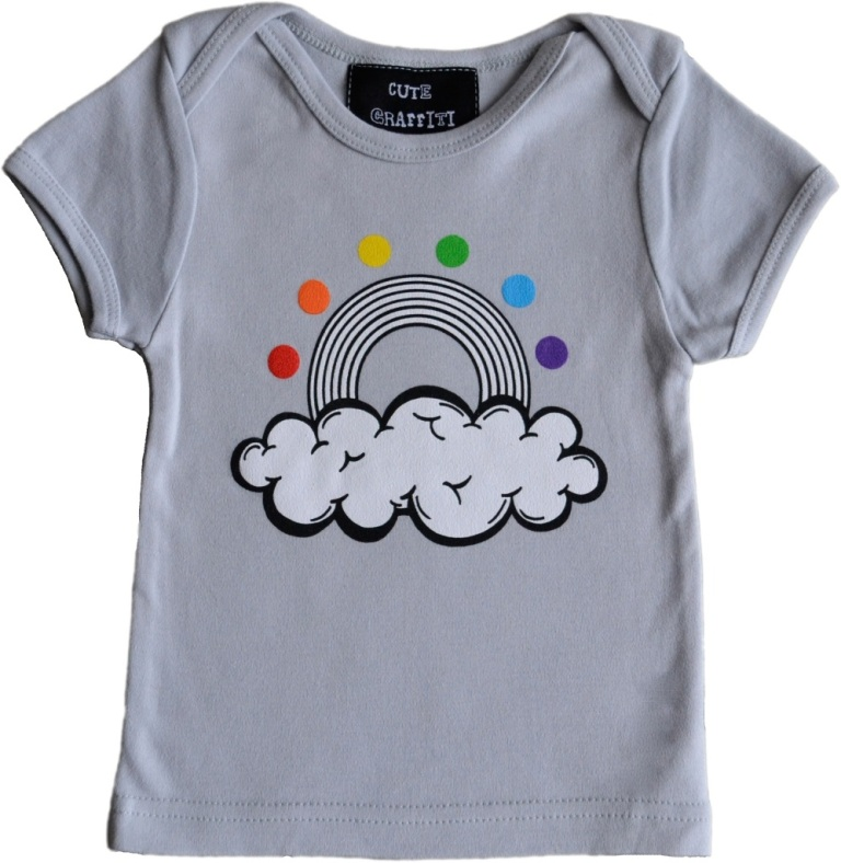 NEW-rainbow-grey Gorgeous Rainbow Kids Clothing