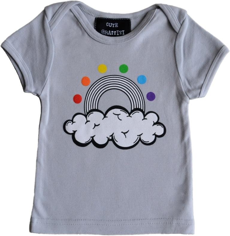 NEW-rainbow-grey Gorgeous Rainbow Kids Clothing