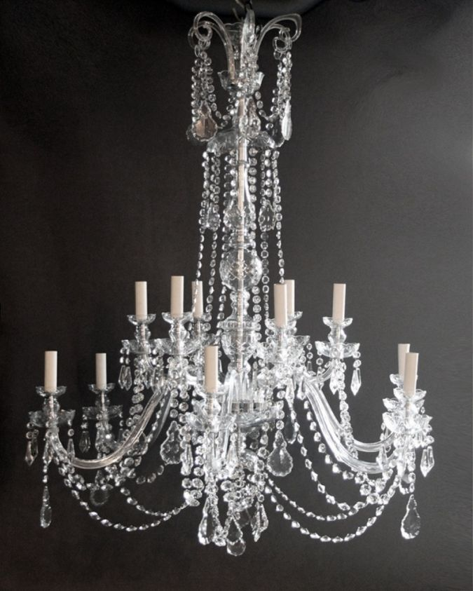 Pair_of_large_crystal_chandeliers Choosing The Perfect Chandelier