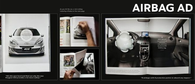 Top 10 Most Interactive Car Print Ads Pouted Online