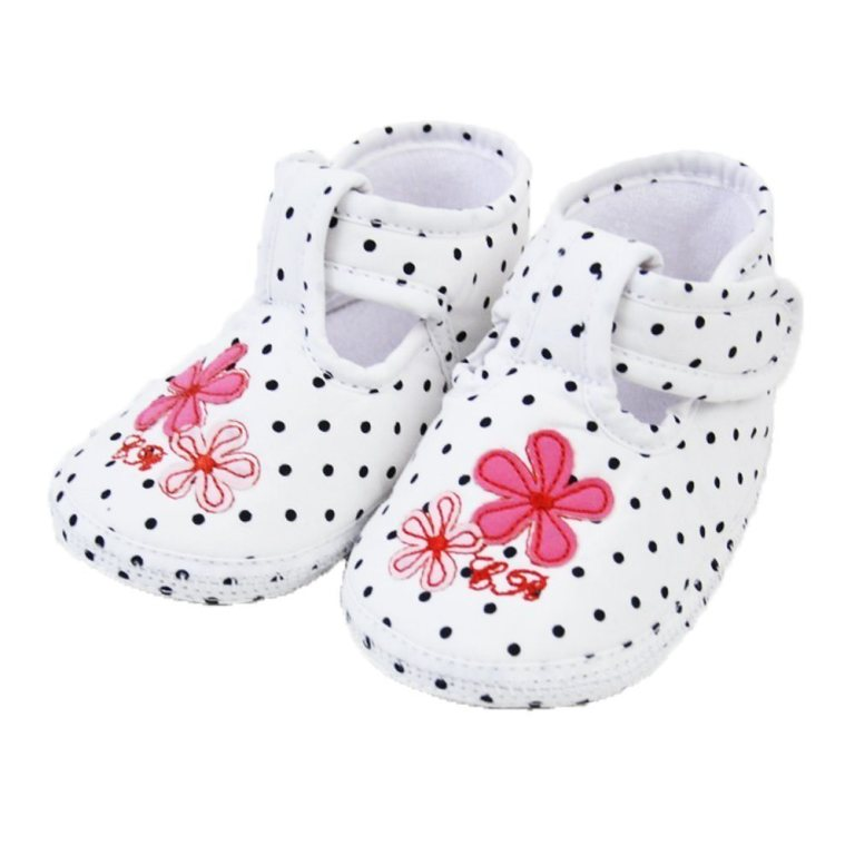 Pretty-Polka-Soft-Soles-Velcro-Crib-Shoes TOP 10 Stylish Baby Girls Shoes Fashion