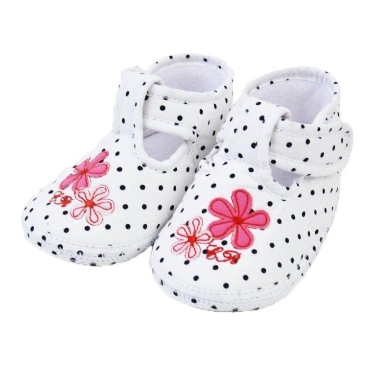 Pretty-Polka-Soft-Soles-Velcro-Crib-Shoes TOP 10 Stylish Baby Girls Shoes Fashion