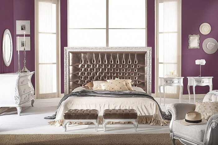Purple bedroom mobilificio bellutti What Are the Latest Home Decor Trends for 2014?