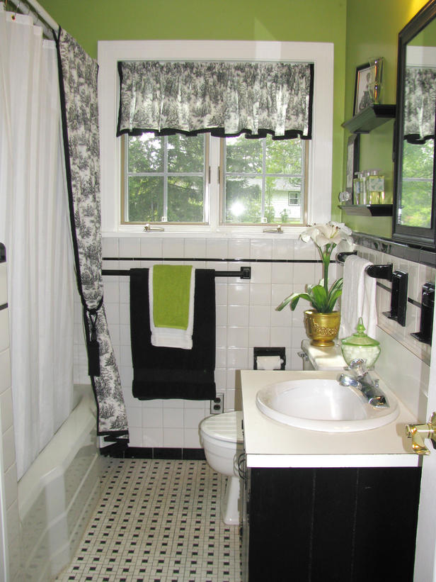 RMS_palmax-green-black-retro-bathroom_s3x4_lg Curtains' Designs For Bathrooms And Showers