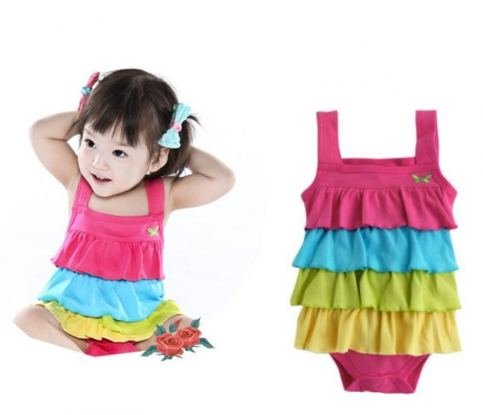 Rainbow-One-piece-Rompers-Bodysuit Gorgeous Rainbow Kids Clothing