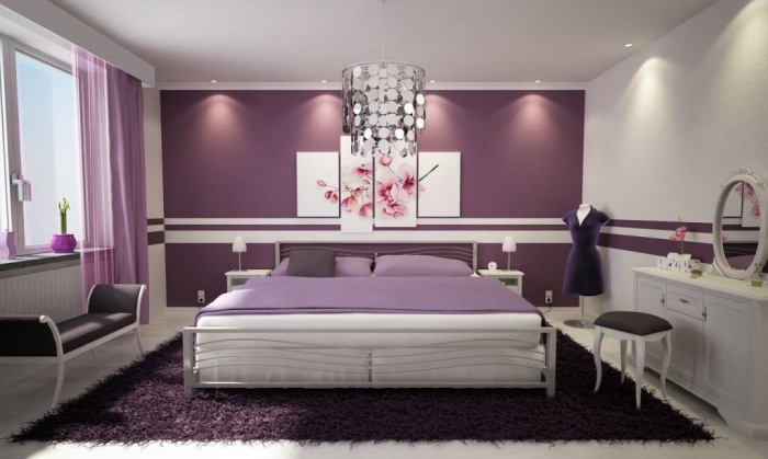 Remarkable-purple-Bedroom-With-Calm What Are the Latest Home Decor Trends?
