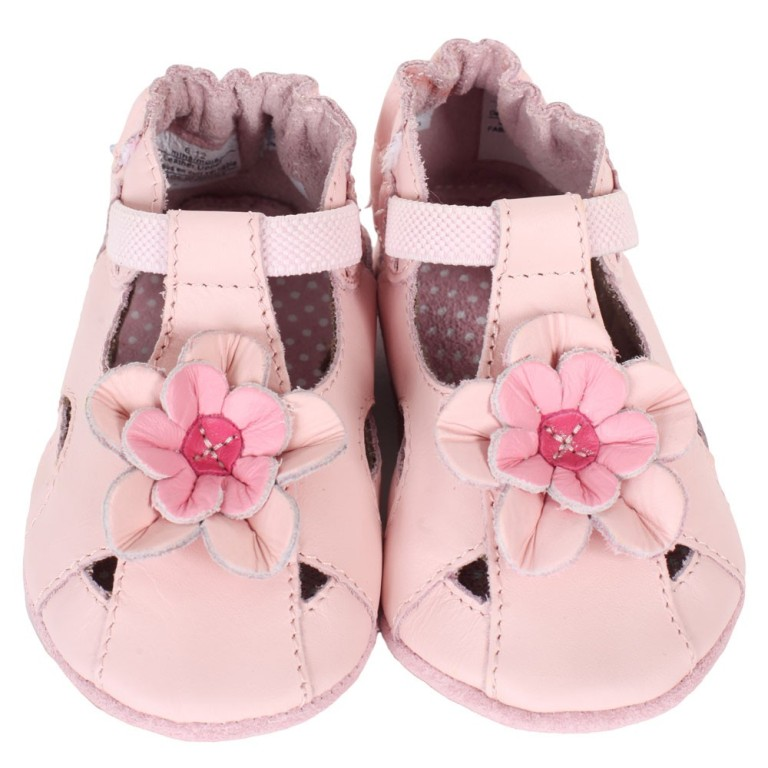 Robeez-Pretty-Pansy-Pink-Baby-Shoes TOP 10 Stylish Baby Girls Shoes Fashion