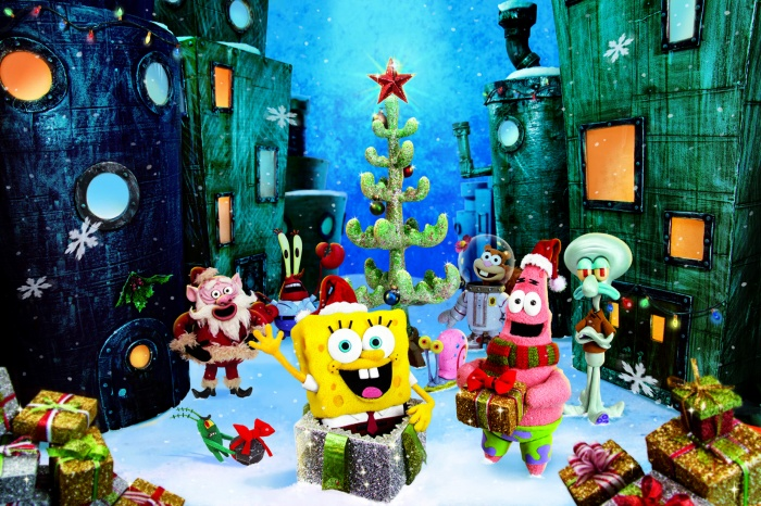 SB_Xmas_8x12_PressArt SpongeBop SquarePants Animation