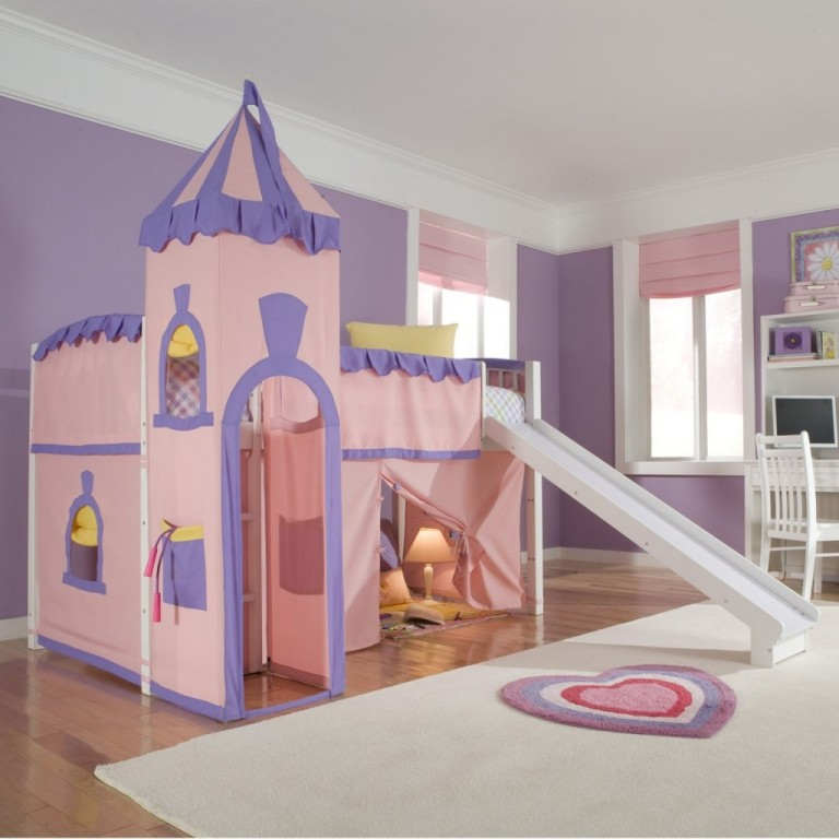 Schoolhouse-Princess-Loft-Bed-For-Children Fascinating and Stunning Designs for Children's Bedroom