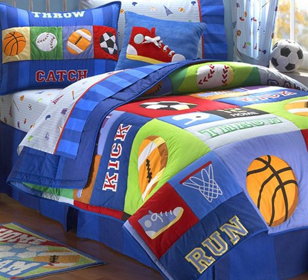 Sports-Toddler-Bedding-Sets How To Find The Most Durable Bed Sheets For Kids?!