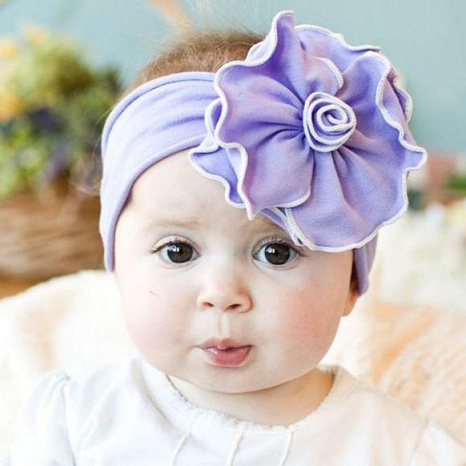 Sweet-Handmade-Baby-and-Girl-Headbands Babies' Charming Hairstyles