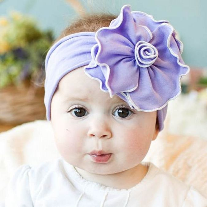 Sweet-Handmade-Baby-and-Girl-Headbands Babies' Charming Hairstyles