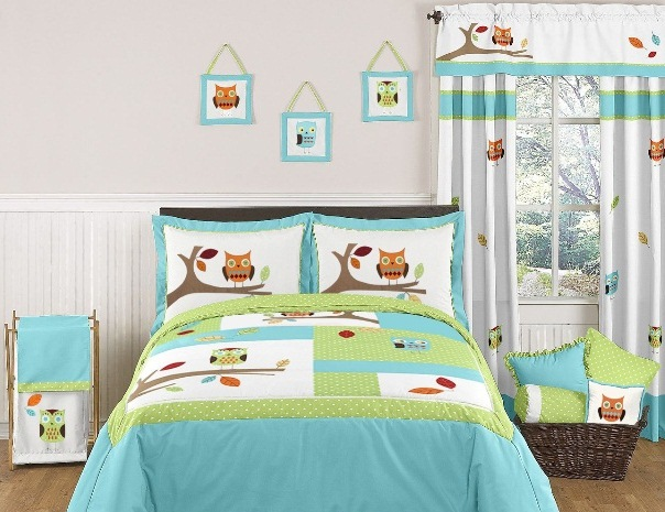 Sweet-Toddler-Bedding-Sets-Owls How To Find The Most Durable Bed Sheets For Kids?!