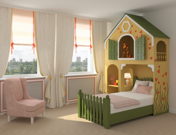 Toddler-Bedroom1 11 Tips on Mixing Antique and Modern Décor Styles