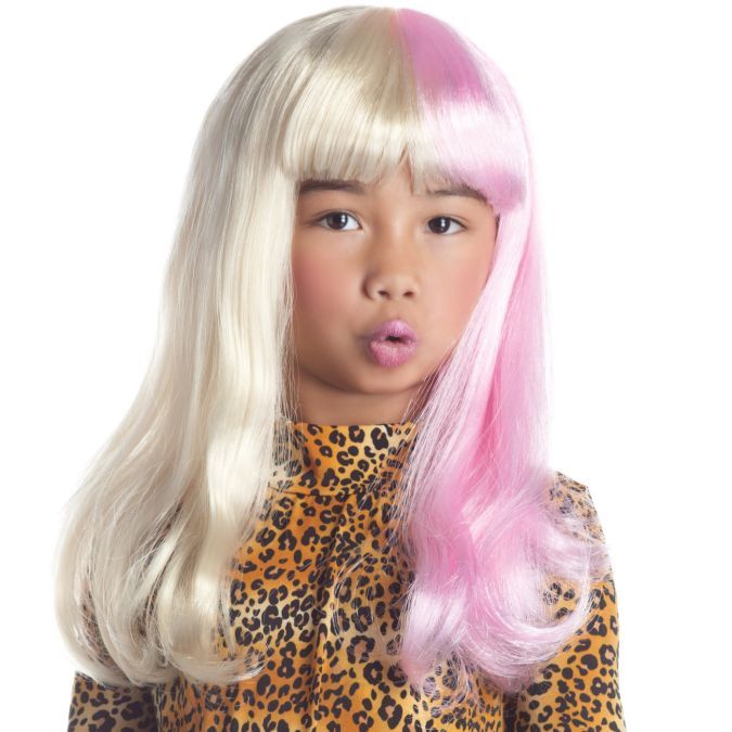 Two-Tone-Diva-Kids-Wig Latest Make Up Art For Kids