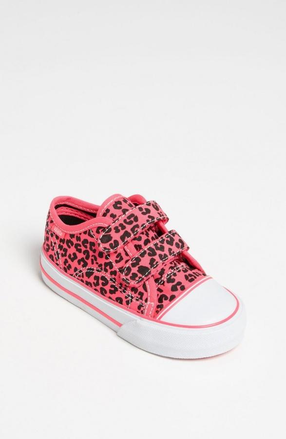 Vans-Big-School-Sneaker-Baby-Walker-Toddler-Neon-Leopard-Pink-1 TOP 10 Stylish Baby Girls Shoes Fashion
