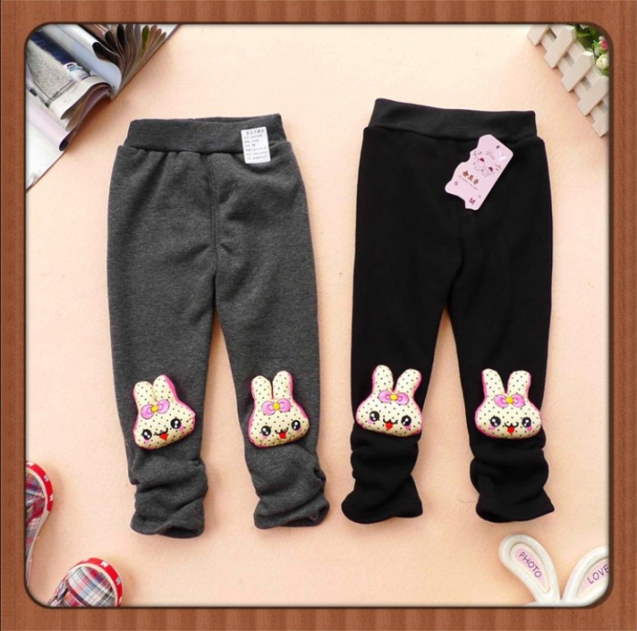 Winter-boots-kids-velvet-thick-leggings-with-rabbit-baby-girls-warm-tights-skinny-trousers-cute-pants 30 Cutest Baby Girl Pants