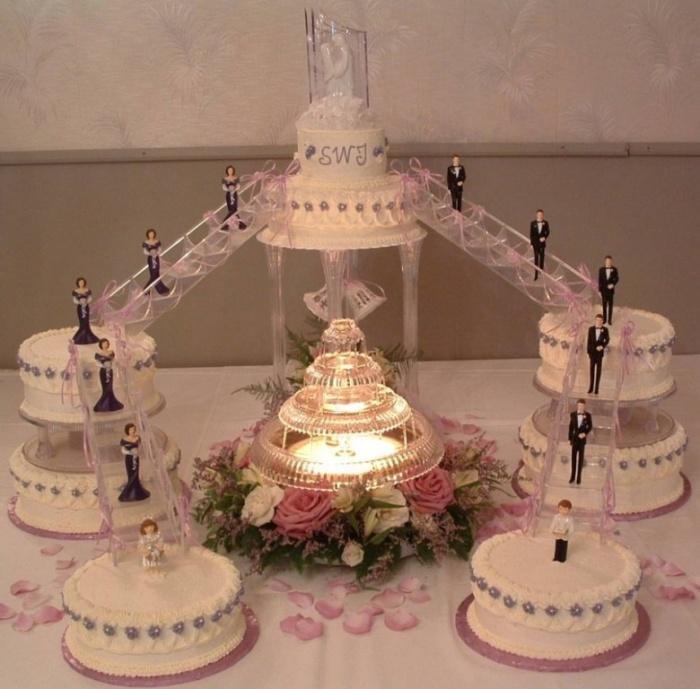 Wonderfull-Wedding-Cakes-Stairs 50 Mouthwatering and Wonderful Wedding Cakes