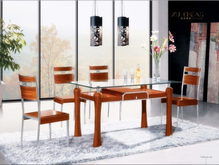 Wood-and-Metal-Dining-Table-Chair