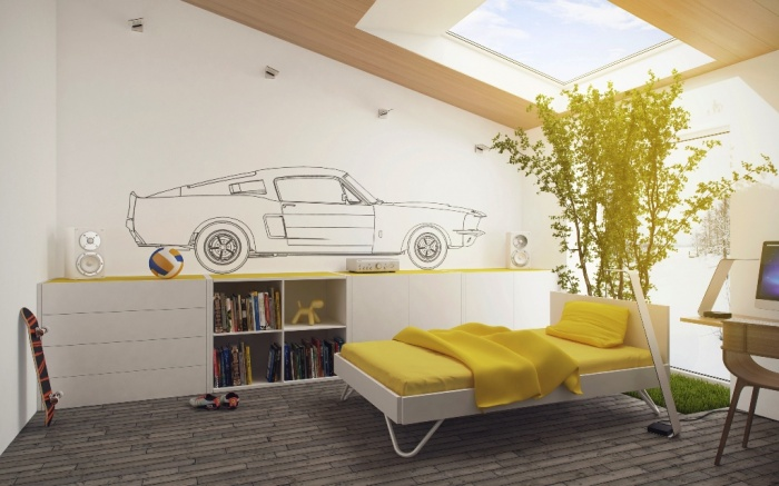 Yellow-white-kids-room Fascinating and Stunning Designs for Children's Bedroom