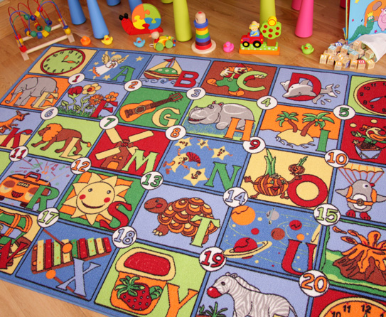 alphabet-number-rug1 Kids' Rugs Are Not Just For Decoration, But An Educational Method