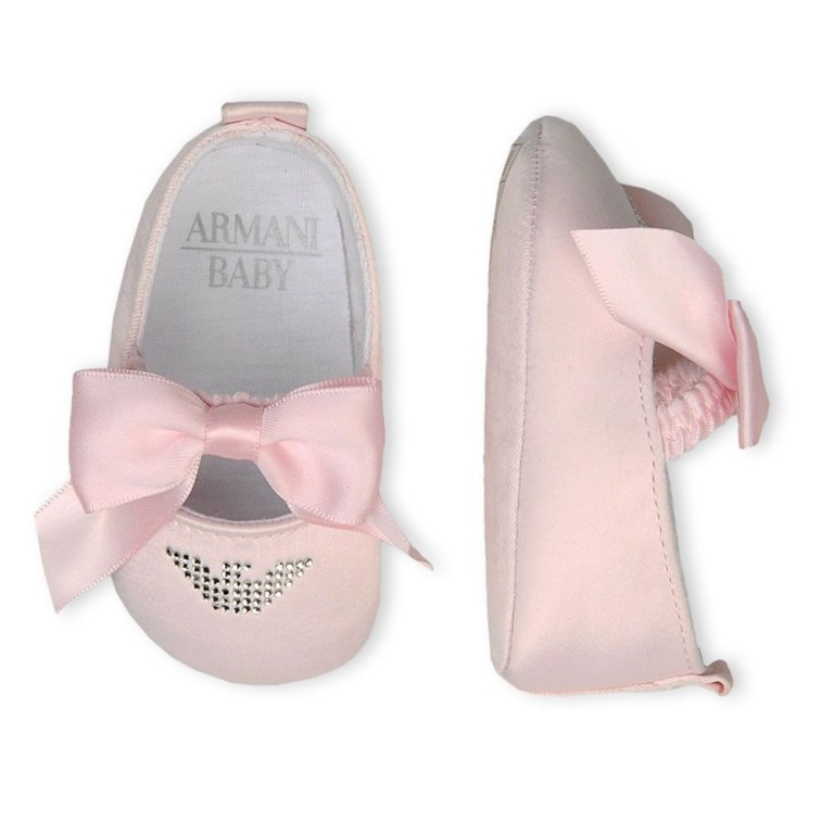 armani-baby-girl-pink-booties TOP 10 Stylish Baby Girls Shoes Fashion