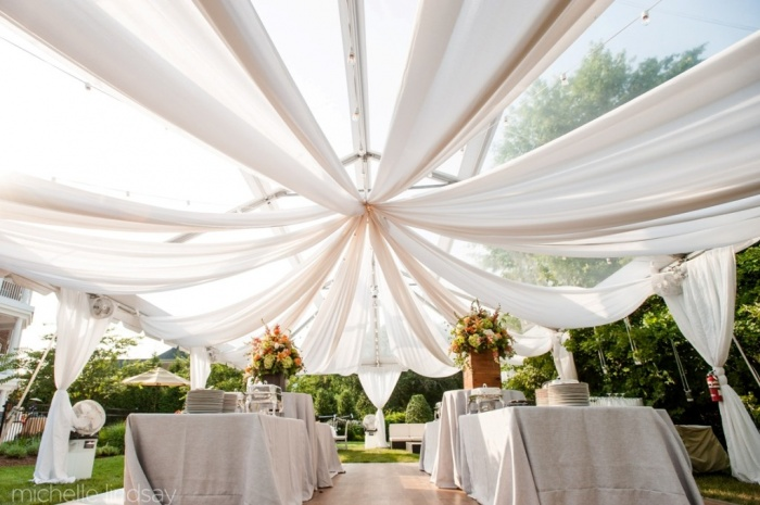 at-home-backyard-wedding-ceremony-reception Dazzling and Stunning Outdoor Wedding Decorations