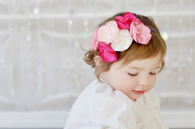 baby-flower-headbands-pink-colors-1024x679 Babies' Charming Hairstyles