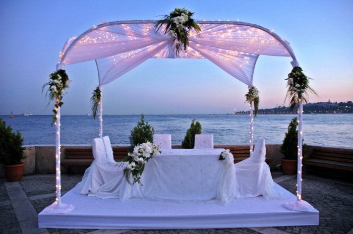 beach-wedding-aisle Dazzling and Stunning Outdoor Wedding Decorations