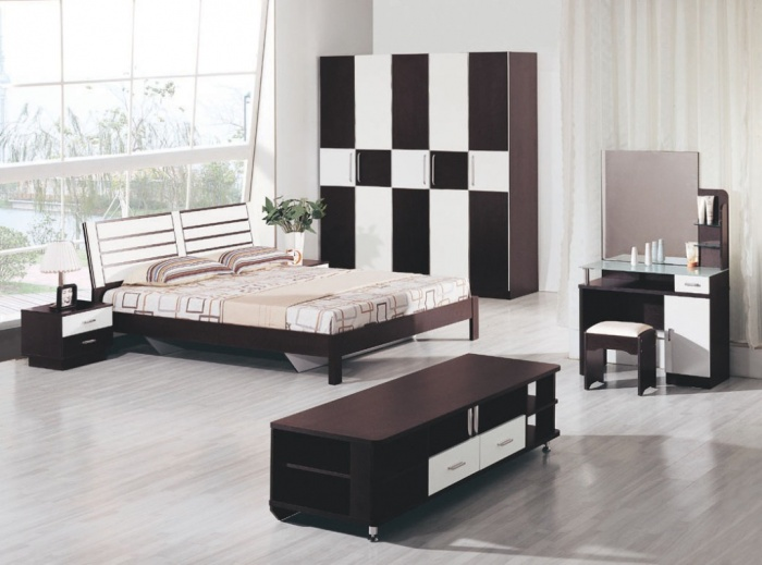 bedroom-sets-in-black-and-white-color Fabulous and Breathtaking Bedroom Designs