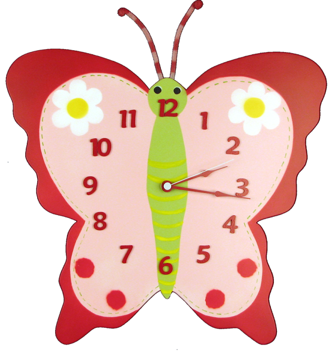 big-butterfly-red 15 Amazing Wall Clocks Will Be Pieces Of Art In Your Home