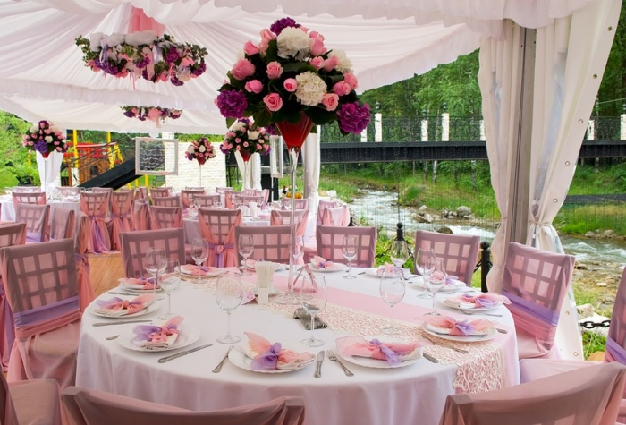 bigstock_Wedding_Tables_In_Outdoor Dazzling and Stunning Outdoor Wedding Decorations