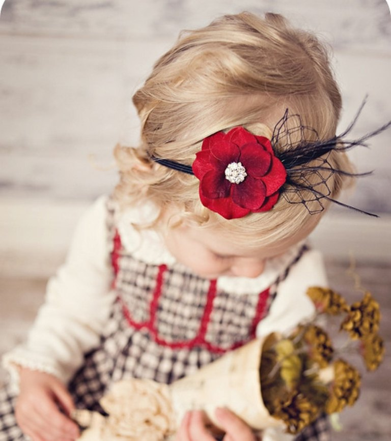 black-and-red 50 Gorgeous Kids Hair Accessories and Hairstyles