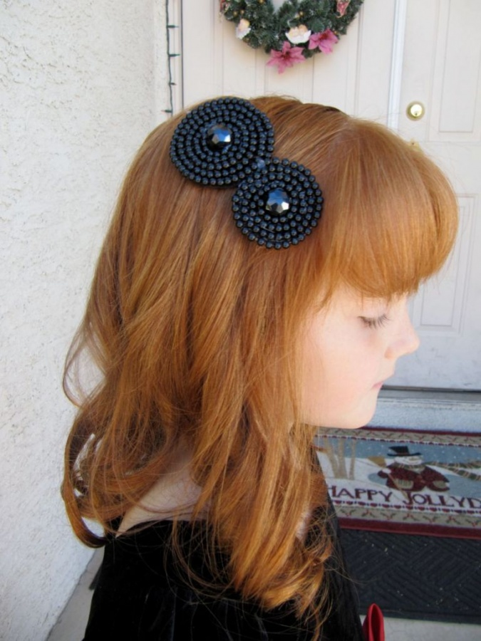 black. 50 Gorgeous Kids Hair Accessories and Hairstyles