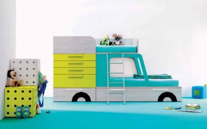 blue-kids-rooms-Desain-Keren-Kamar-Tidur-Anak-Yang-Menakjubkan Fascinating and Stunning Designs for Children's Bedroom