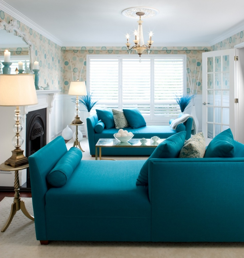 blue living room interior design ideas Discover the Furniture Trends for 2014