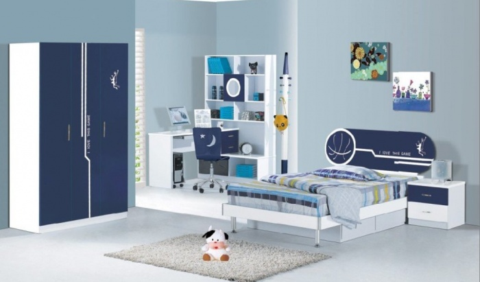 blue Fascinating and Stunning Designs for Children's Bedroom