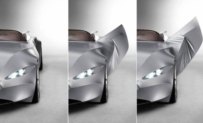 bmw-gina-light-visionary-model-character-line-up-head-lights-opened-opening-door 30 Creative and Breathtaking Car Design Ideas