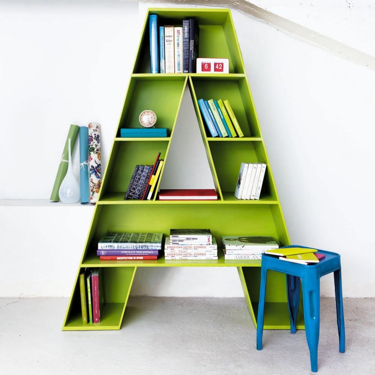 bright-colourful-a-bookcase-children-bedroom Fascinating and Stunning Designs for Children's Bedroom