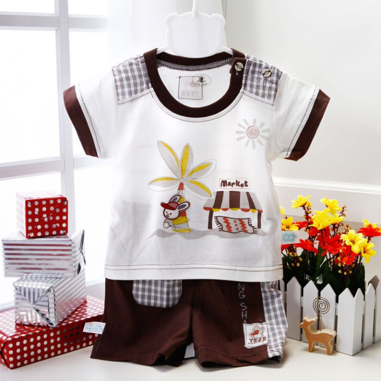 brown-and-white Top 15 Cutest Baby Clothes for Summer