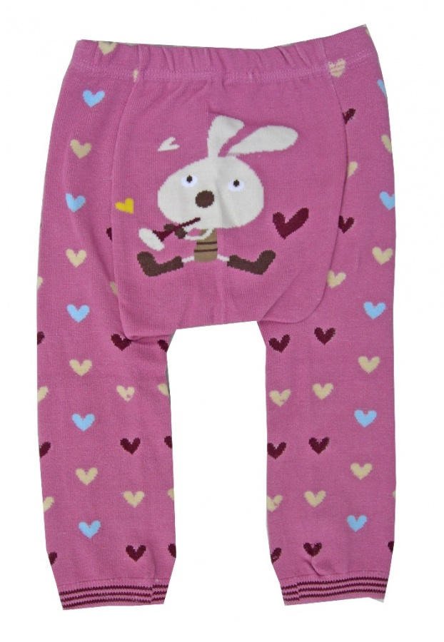 bunny_with_flute_and_hearts_legging_pants_for_kids_girls_baby_original 30 Cutest Baby Girl Pants