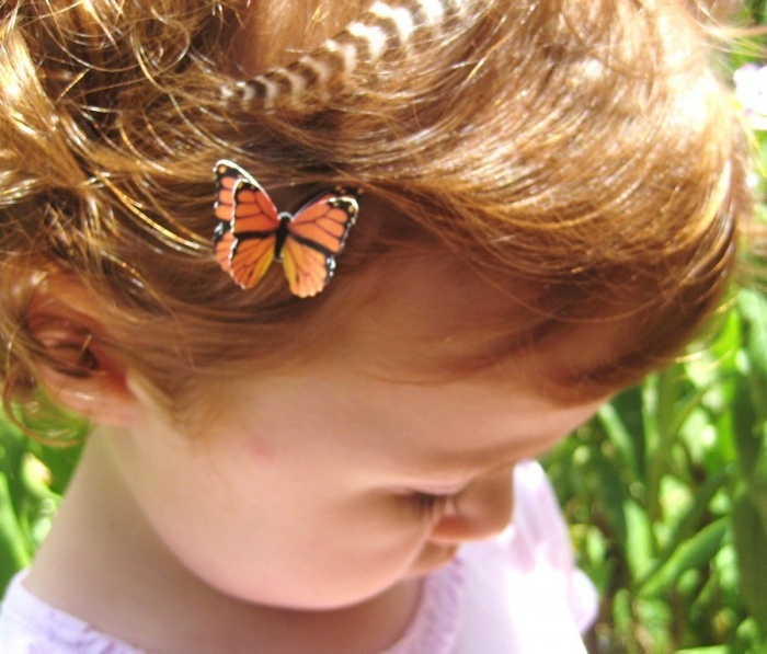 butterfly 50 Gorgeous Kids Hair Accessories and Hairstyles