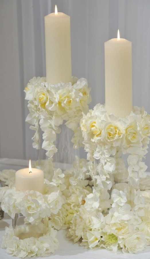 candles 50 Fabulous and Breathtaking Wedding Centerpieces